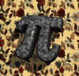 pi (rendered with Pixar Typestry)