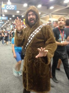 ComicCon 2014 Costume be3n Chewbacca Bath Robe