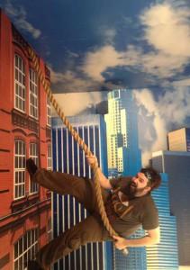 Comic Con 2014 NerdHQ Set be3n climb building