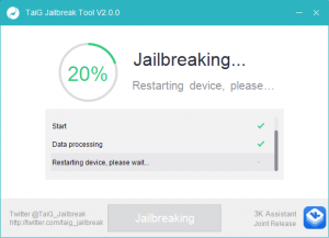 tiag 8.3 jailbreak start