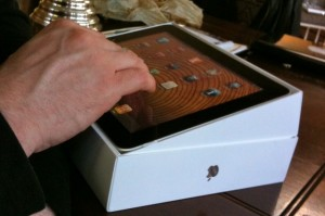 touching an ipad