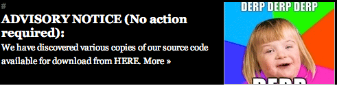 Segment from Gawker's defaced site
