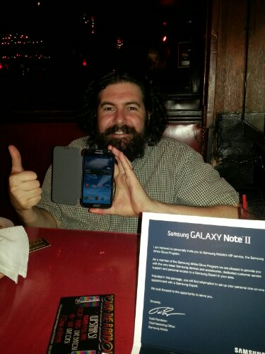 Me and my Samsung Galaxy Note II