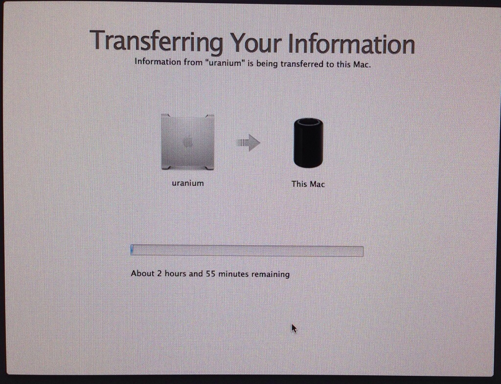 Transferring data to New Mac Pro