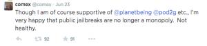 pangu jailbreak twitter comex