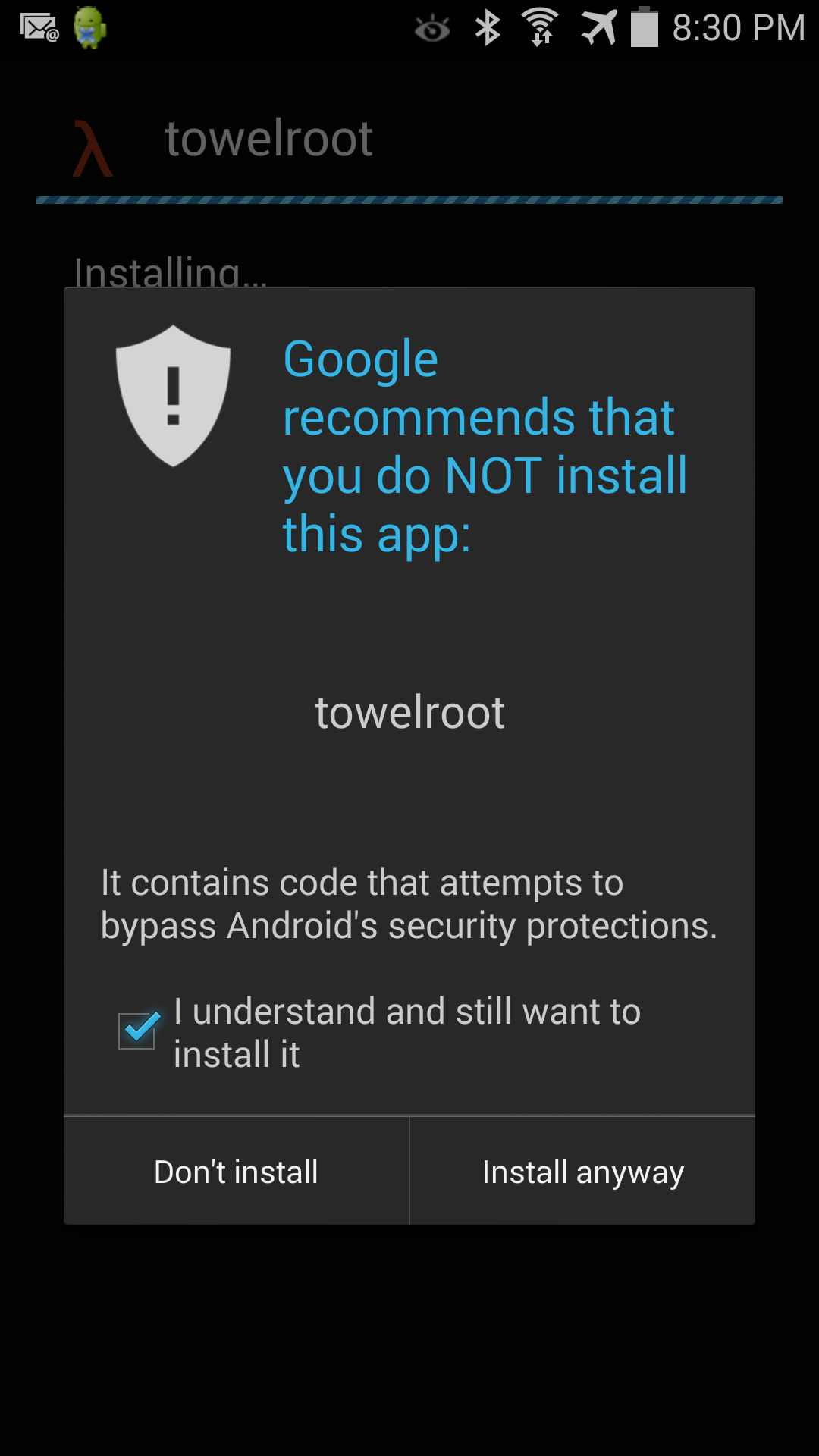 Android Warning you would never see on iOS