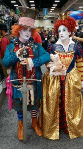 Comic Con 2014 Costume Tim Burtons Mad Hatter Queen Of Hearts