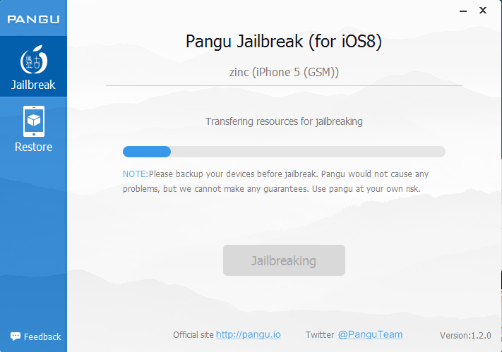 Pangu Jailbreak 8.1